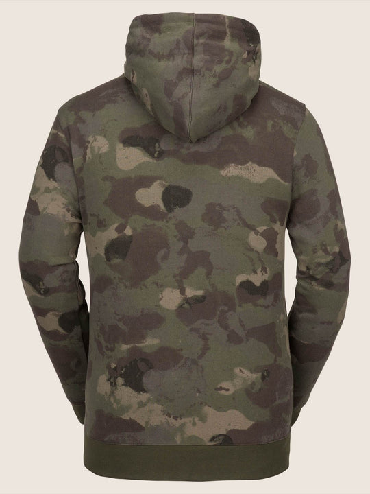 Jla Pullover Fleece In Camouflage, Back View