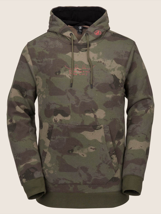 Jla Pullover Fleece In Camouflage, Front View