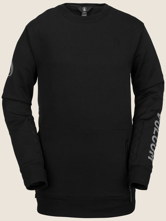 Pat Moore Fleece In Black, Front View