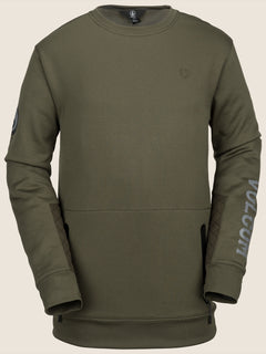 Pat Moore Fleece In Snow Military, Front View