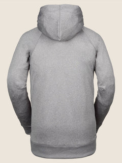 Hydro Riding Hoodie In Heather Grey, Back View