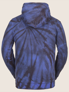 Jamies Fleece In Blue Tie-dye, Back View