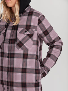 HOODED FLANNEL JKT (H0252005_PUH) [4]