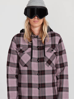 HOODED FLANNEL JKT (H0252005_PUH) [6]