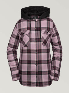 HOODED FLANNEL JKT (H0252005_PUH) [F]