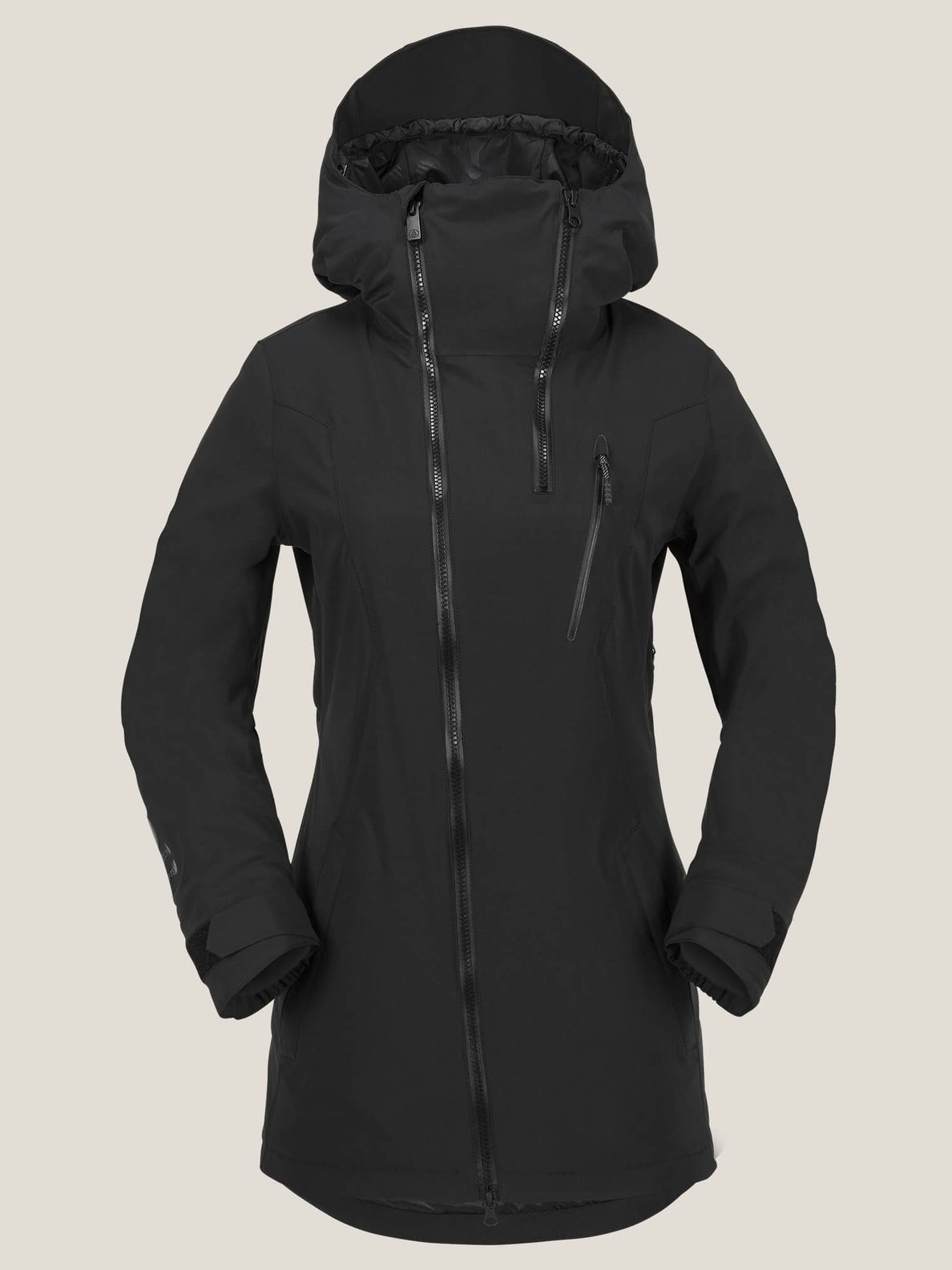 V Insulated Gore-tex® Stretch Jacket In Black, Front View