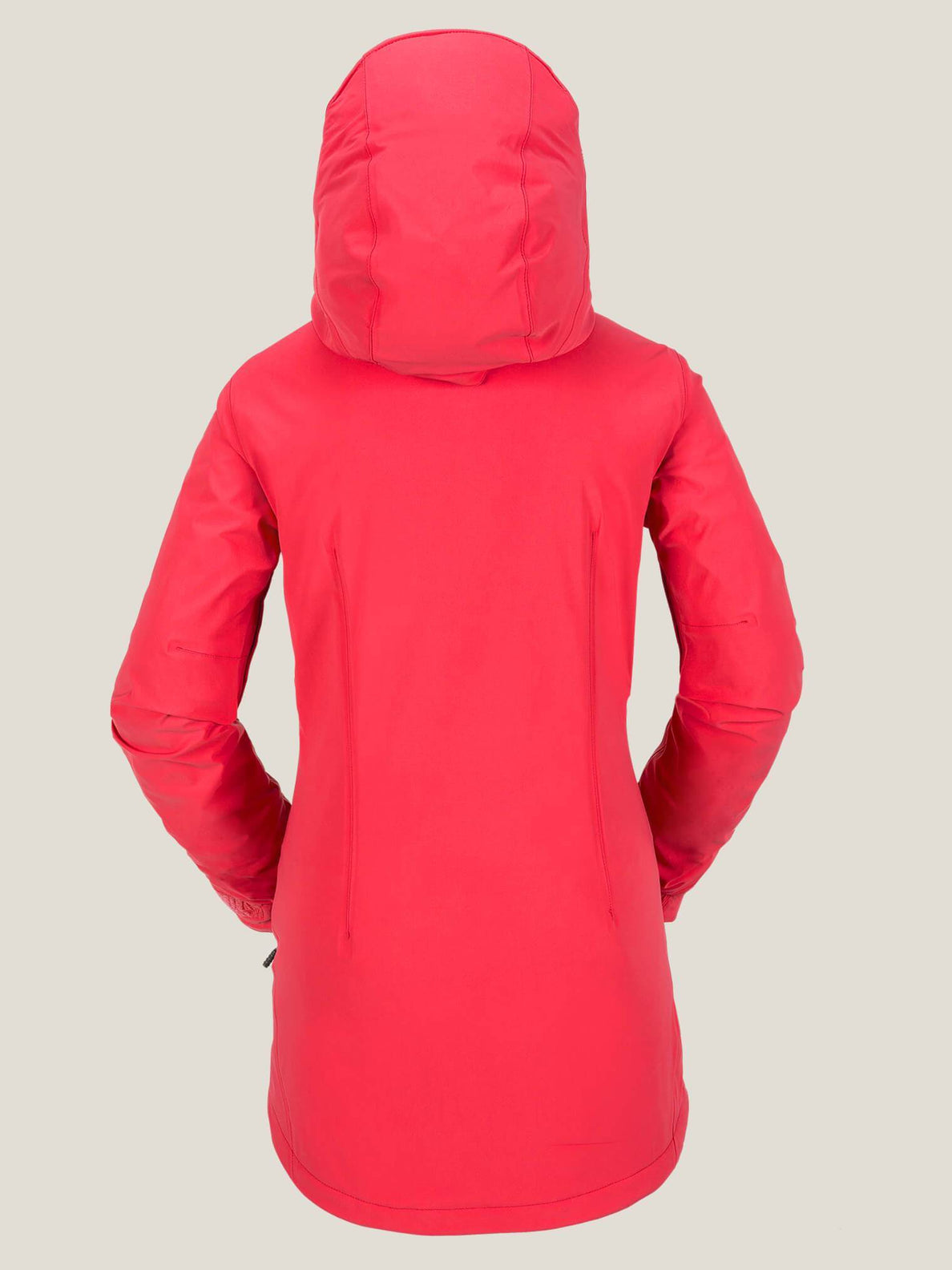 V Insulated Gore-tex® Stretch Jacket In Bright Rose, Back View
