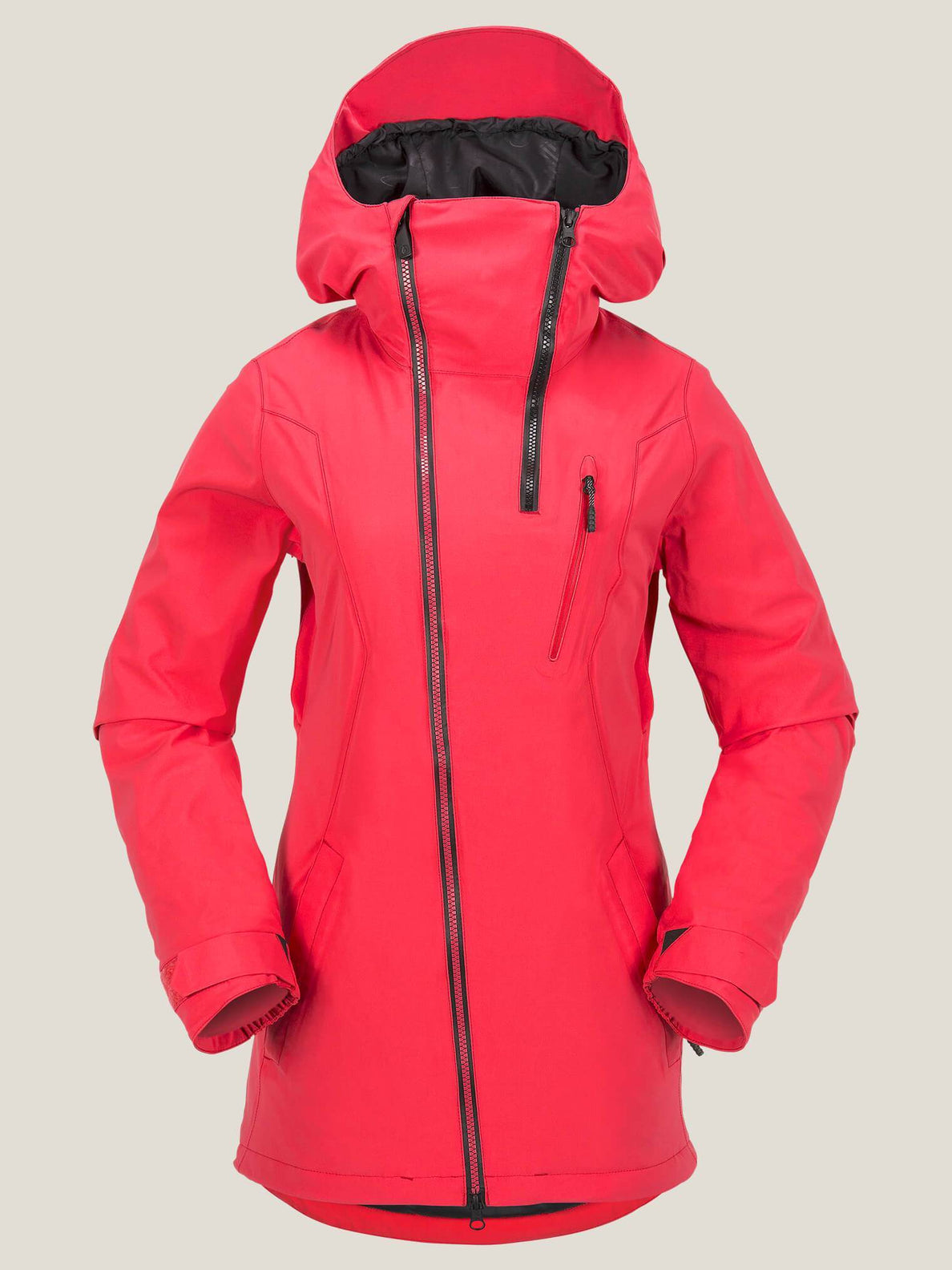V Insulated Gore-tex® Stretch Jacket In Bright Rose, Front View