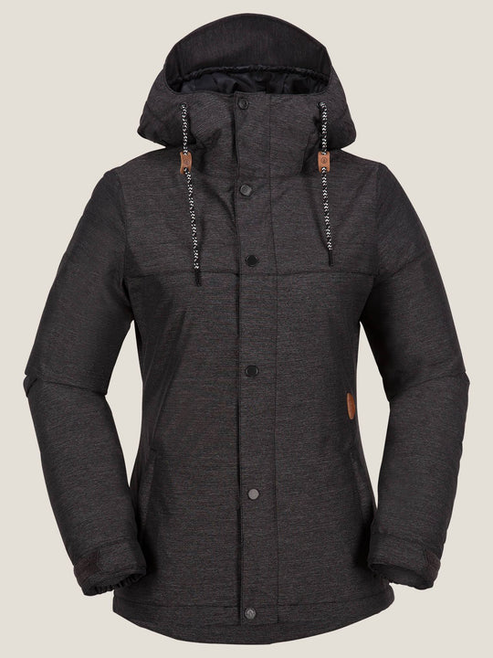Bolt Insulated Jacket In Black, Front View