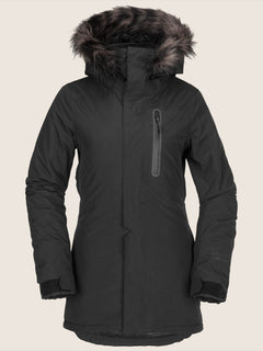 Eva Insulated Gore-tex Jacket In Black, Front View