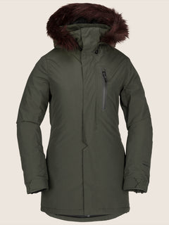 Eva Insulated Gore-tex Jacket In Snow Forest, Front View