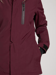 Eva Insulated Gore-tex Jacket In Merlot, Third Alternate View