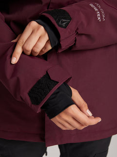 Eva Insulated Gore-tex Jacket In Merlot, Fifth Alternate View