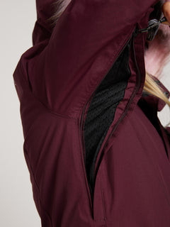 Eva Insulated Gore-tex Jacket In Merlot, Sixth Alternate View