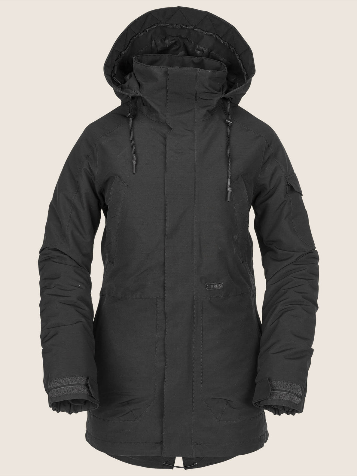 Shrine Insulated Jacket In Black, Front View