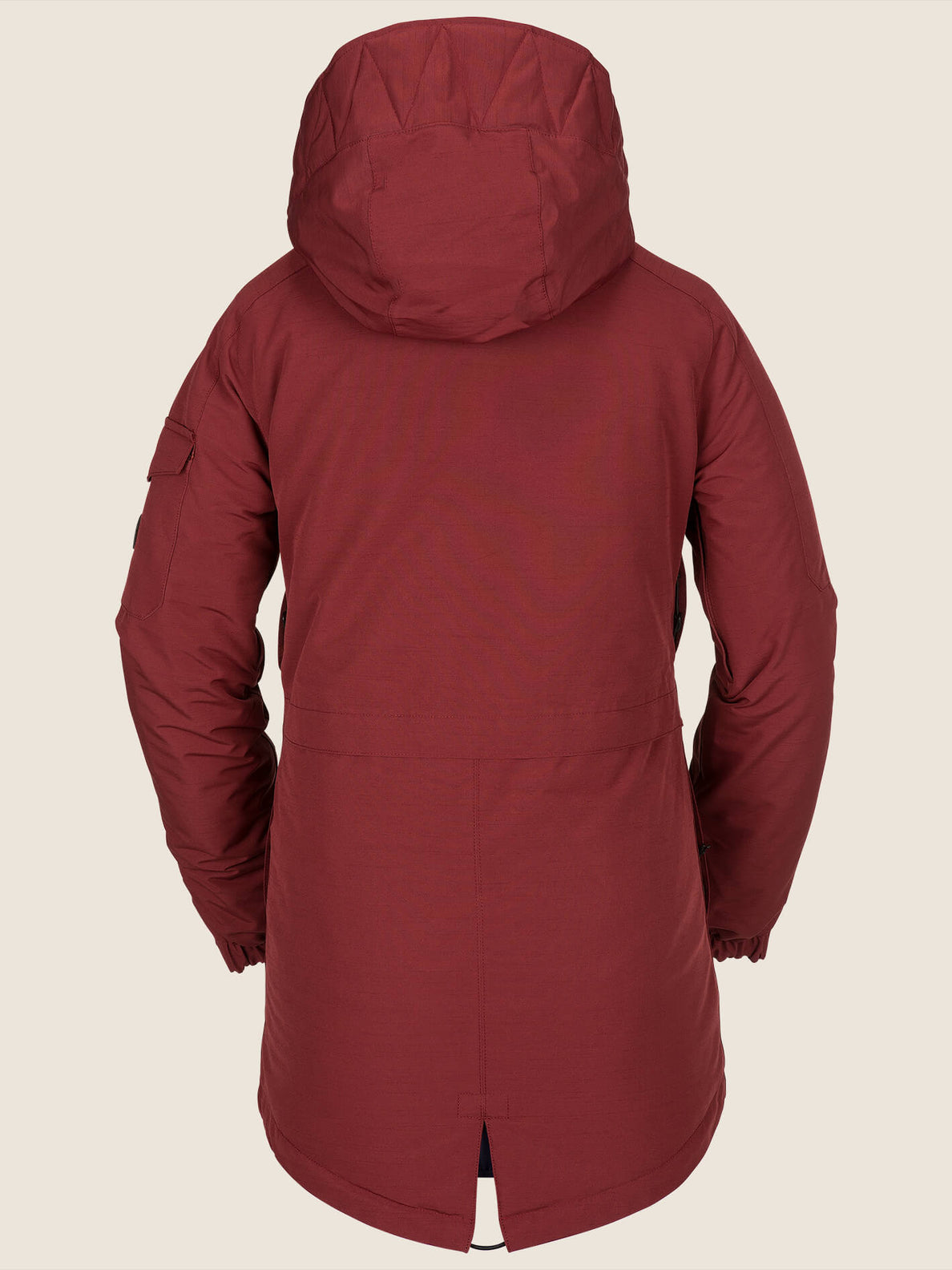 Shrine Insulated Jacket In Burnt Red, Back View