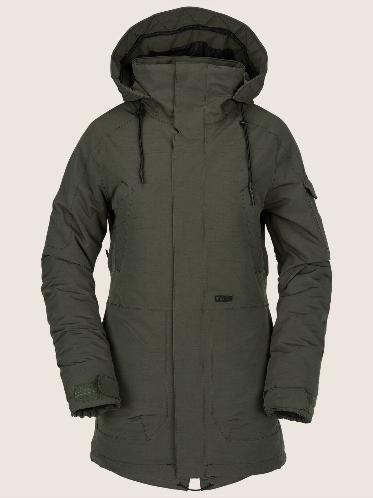 Shrine Insulated Jacket In Snow Forest, Front View
