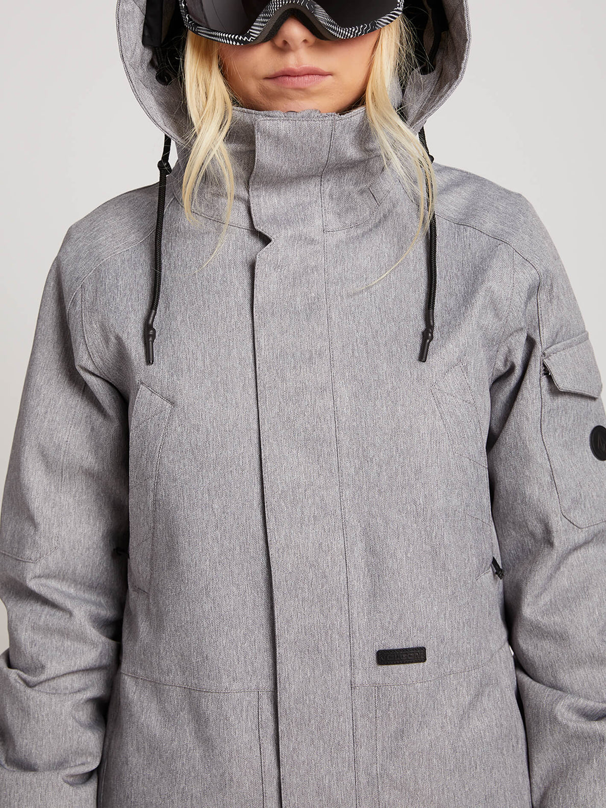 Shrine Insulated Jacket In Heather Grey, Alternate View