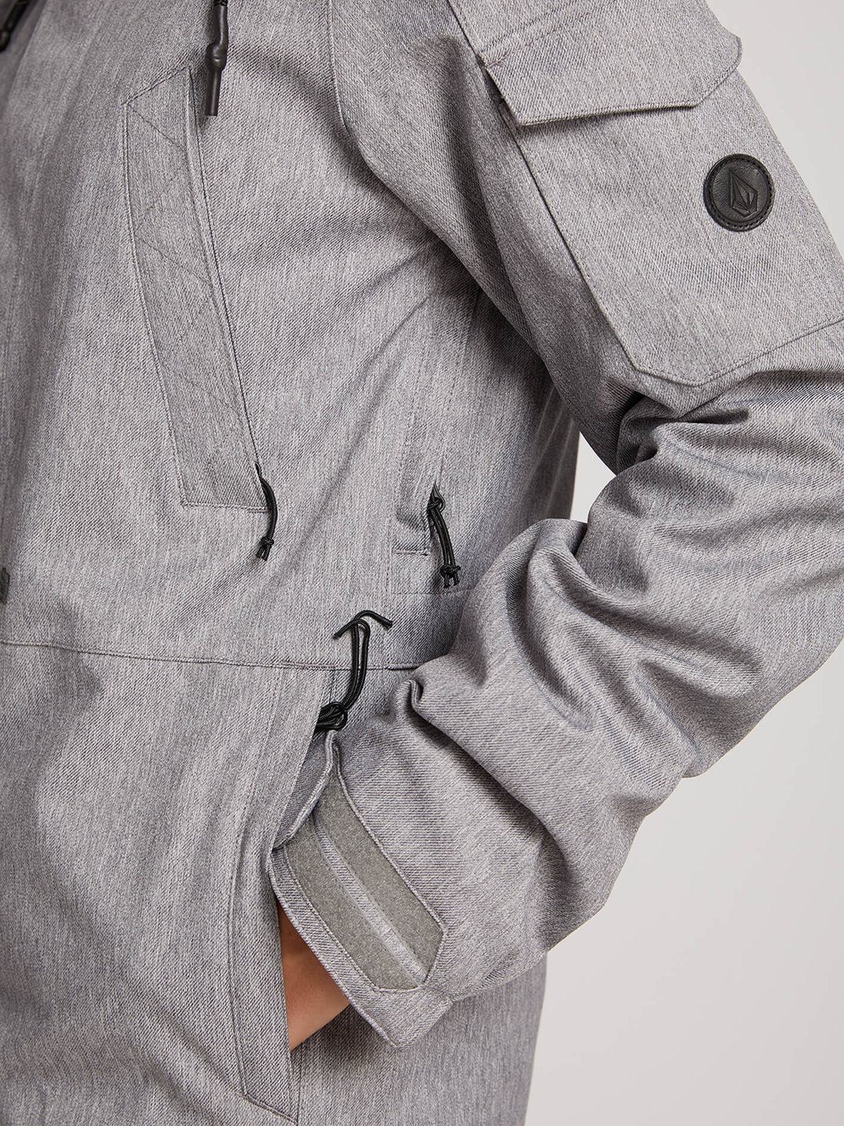 Shrine Insulated Jacket In Heather Grey, Fourth Alternate View
