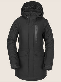 Shelter 3D Stretch Jacket In Black, Front View