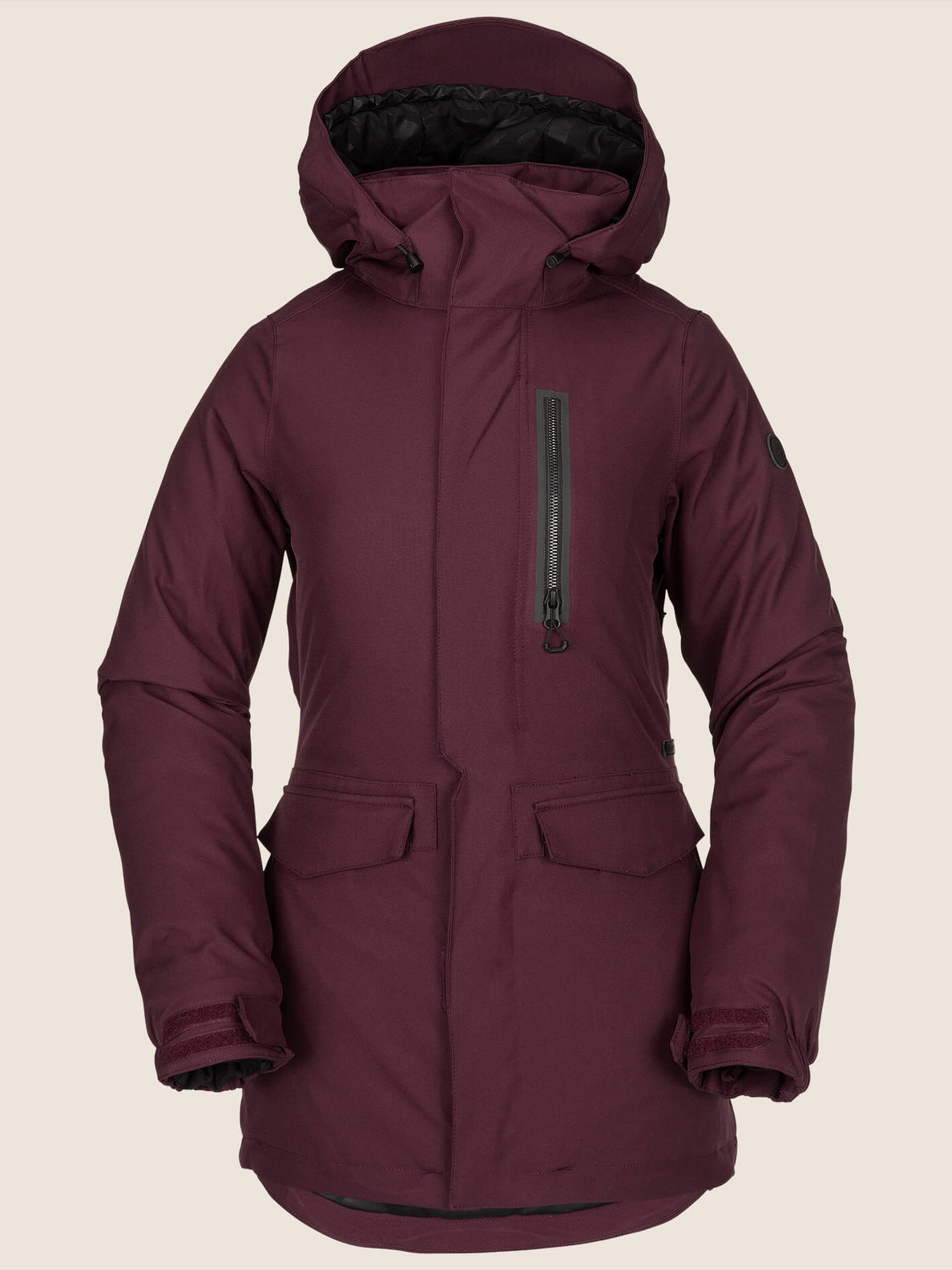 Shelter 3D Stretch Jacket In Merlot, Front View