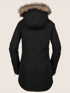 Fawn Ins Jacket In Black, Back View