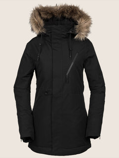 Fawn Ins Jacket In Black, Front View