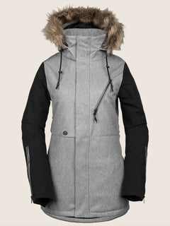 Fawn Ins Jacket In Heather Grey, Front View