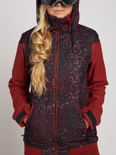 Meadow Insulated Jacket In Black Floral Print, Alternate View