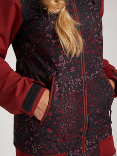 Meadow Insulated Jacket In Black Floral Print, Third Alternate View