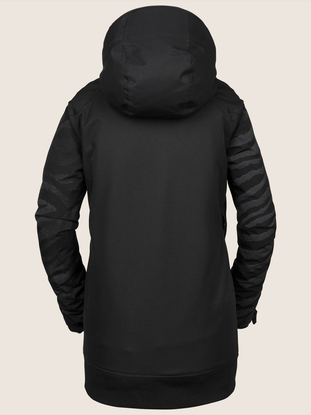 Meadow Insulated Jacket In Black, Back View