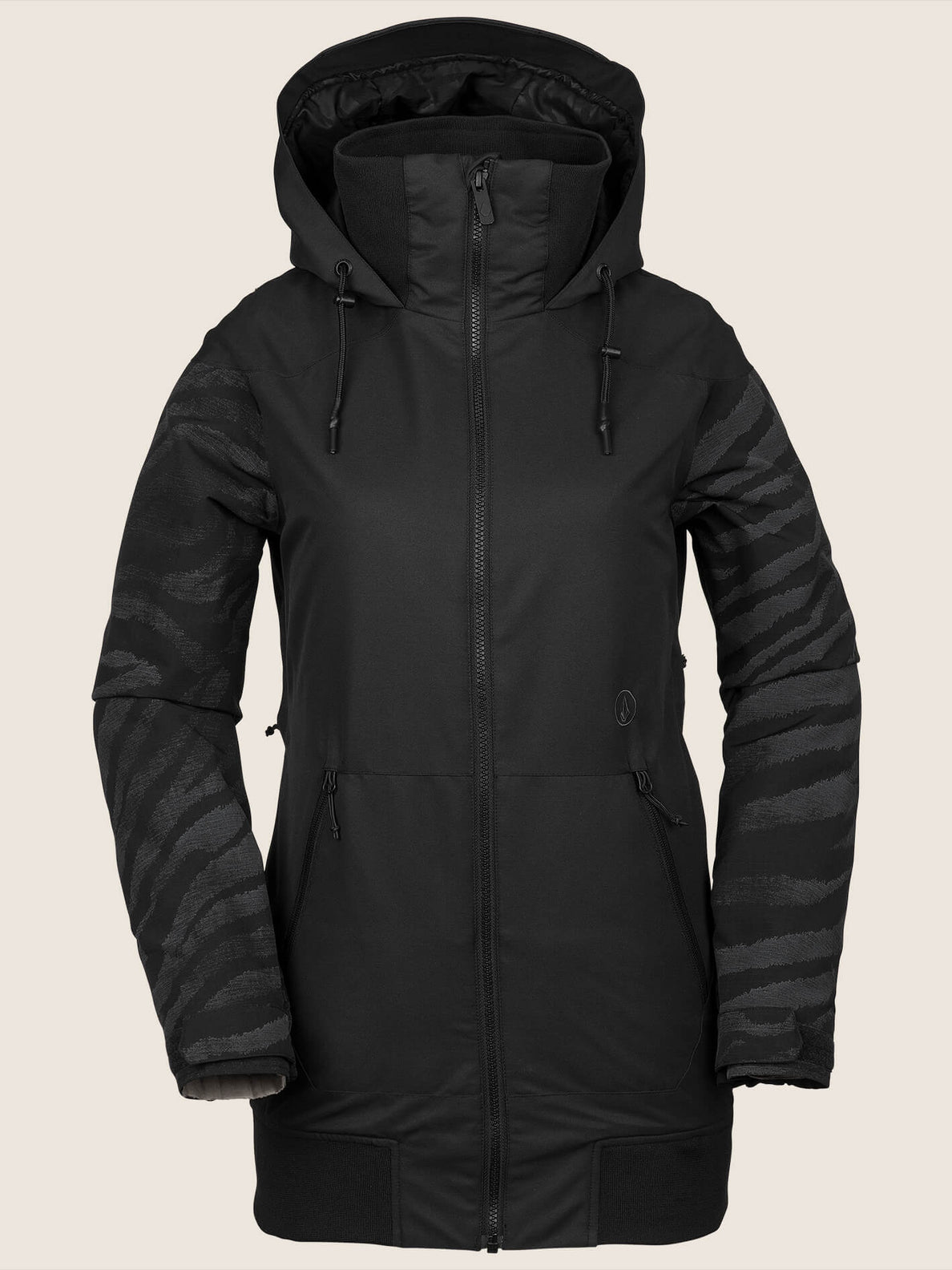 Meadow Insulated Jacket In Black, Front View