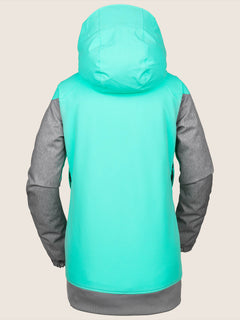 Meadow Insulated Jacket In Jade, Back View