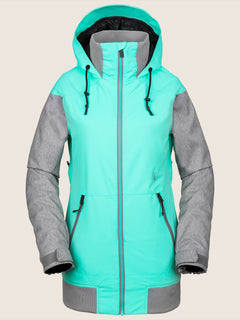 Meadow Insulated Jacket In Jade, Front View