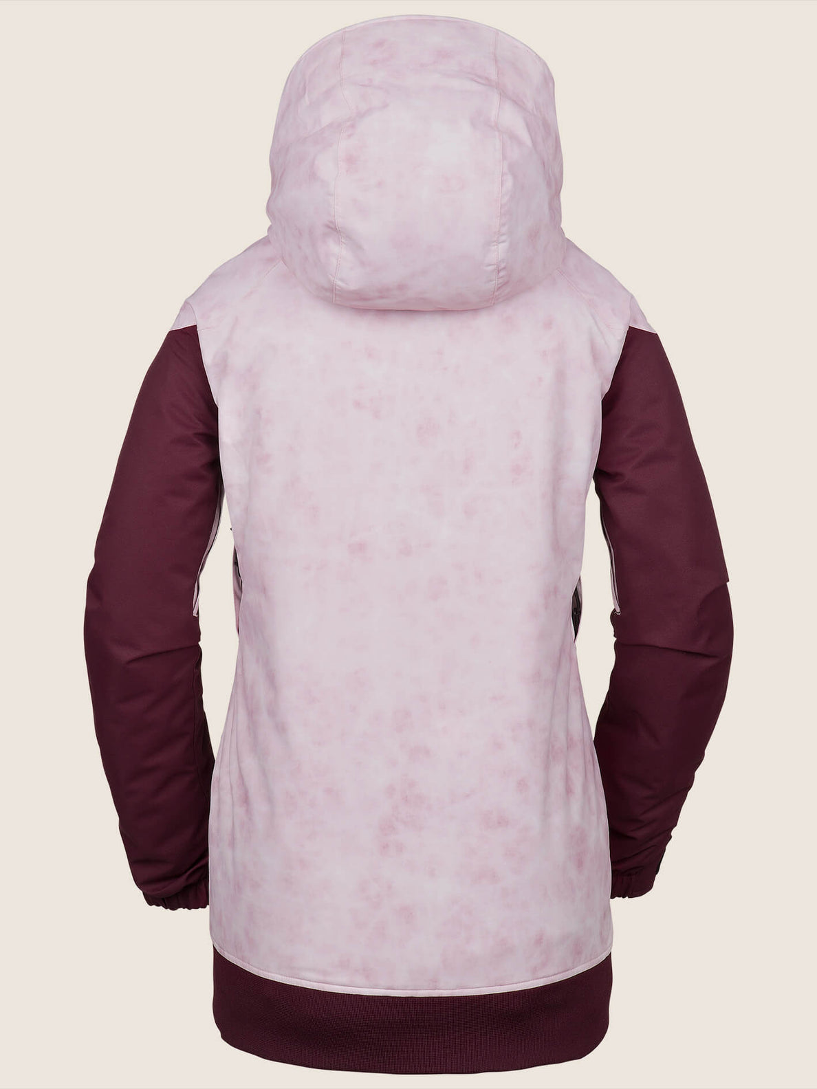 Meadow Insulated Jacket In Pink, Back View