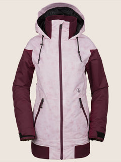 Meadow Insulated Jacket In Pink, Front View