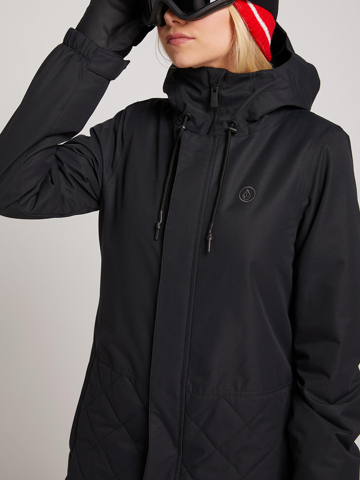 Winrose Insulated Jacket In Black, Second Alternate View