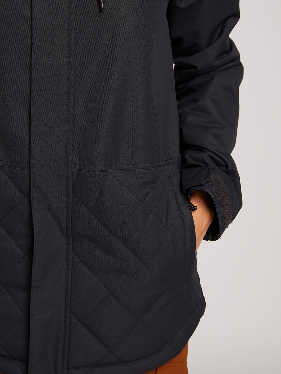 Winrose Insulated Jacket In Black, Fourth Alternate View