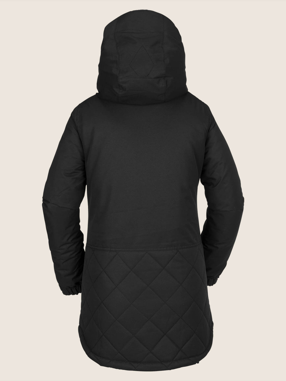 Winrose Insulated Jacket In Black, Back View
