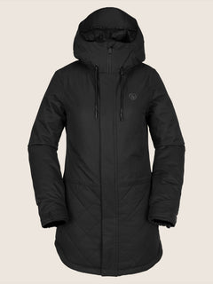 Winrose Insulated Jacket In Black, Front View