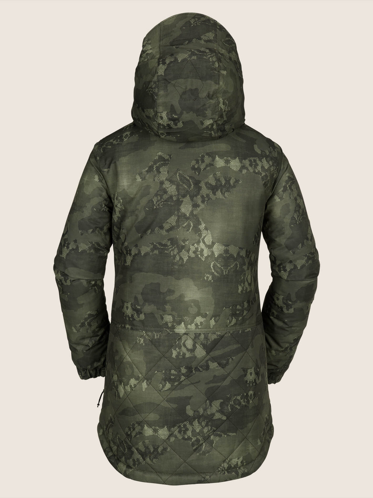 Winrose Insulated Jacket In Camouflage, Back View