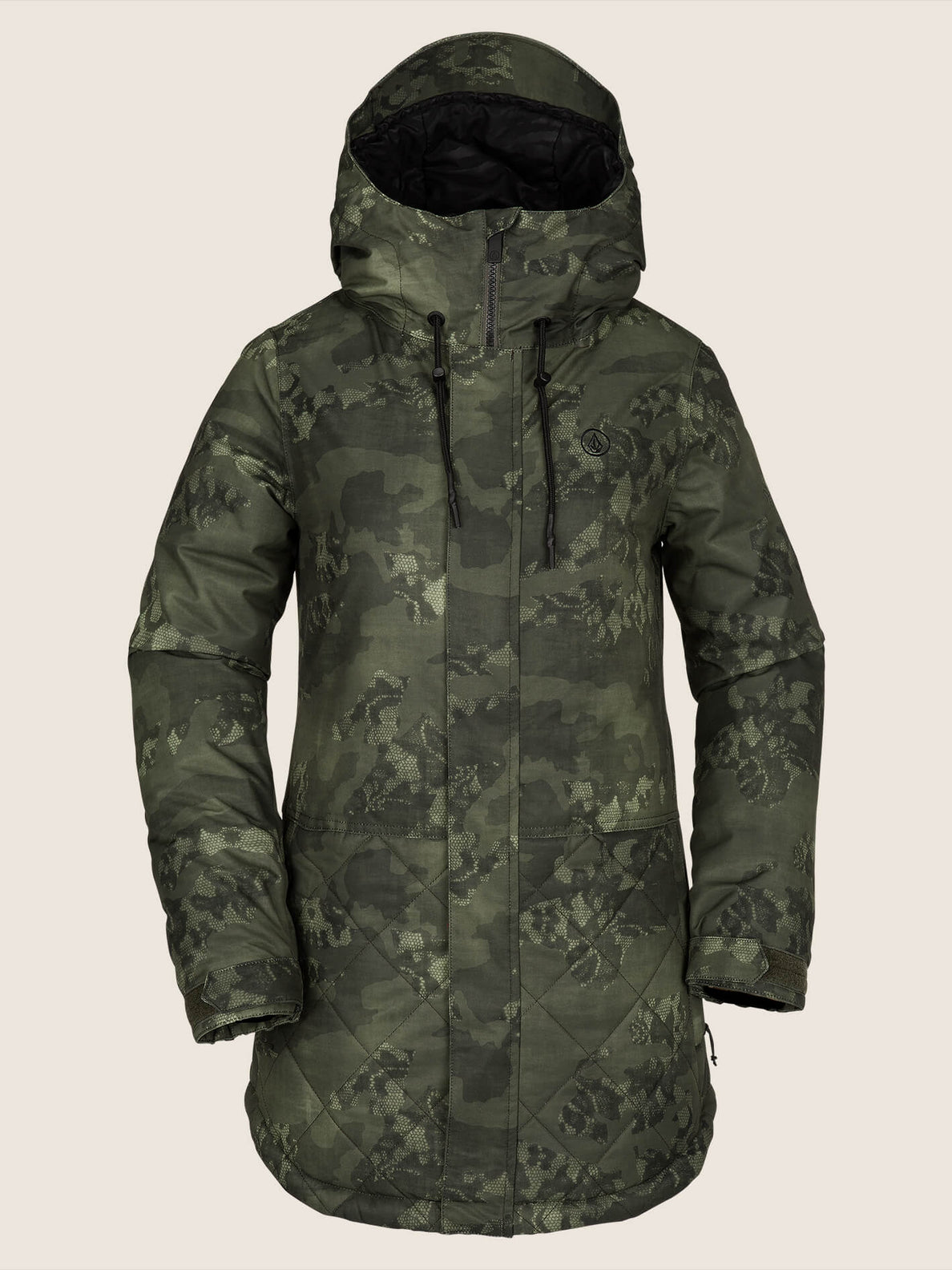 Winrose Insulated Jacket In Camouflage, Front View