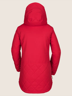 Winrose Insulated Jacket In Crimson, Back View
