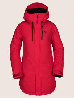 Winrose Insulated Jacket In Crimson, Front View