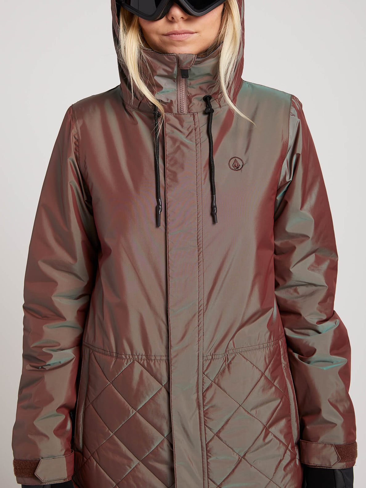 Winrose Insulated Jacket In Iridescent Magenta, Alternate View