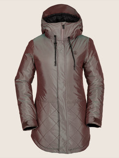 Winrose Insulated Jacket In Iridescent Magenta, Front View