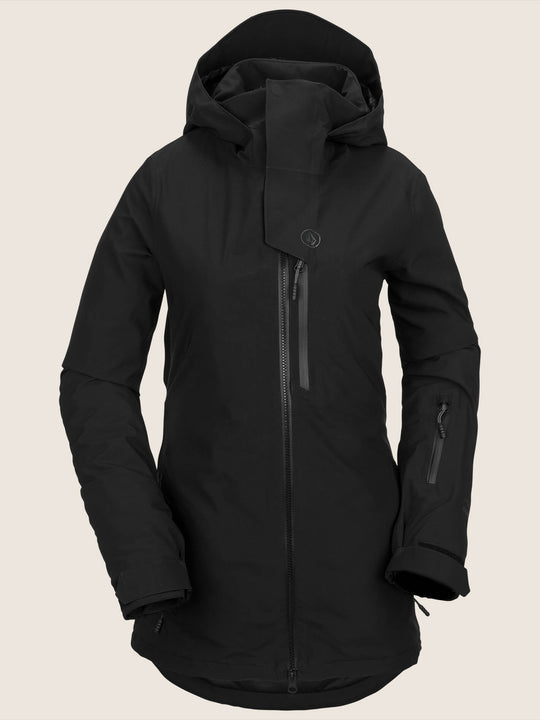 3D Stretch Gore-tex Jacket In Black, Front View