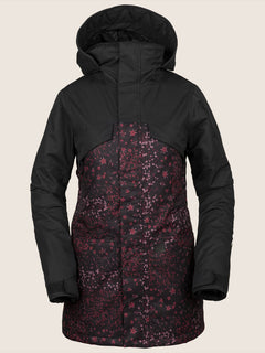 Vault 3-In-1 Jacket In Black Floral Print, Front View