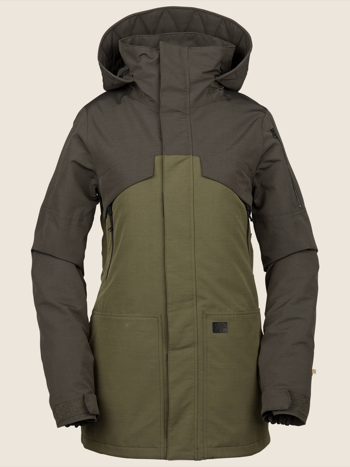 Vault 3-In-1 Jacket In Snow Military, Front View