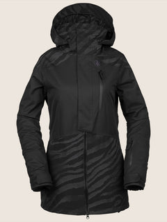 Pine 2L Tds® Jacket In Black On Black, Front View